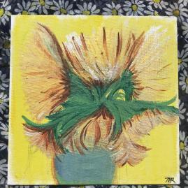 van gogh inspired sunflowers, acrylic on canvas, $50